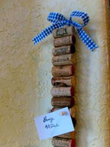Memo Strip from Wine Corks