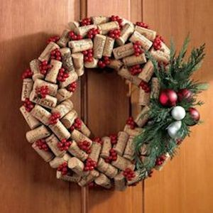 Wine Cork Holiday Wreath