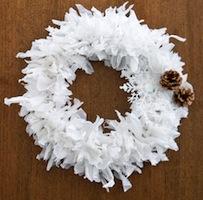 DIY Plastic Bag Holiday Wreath
