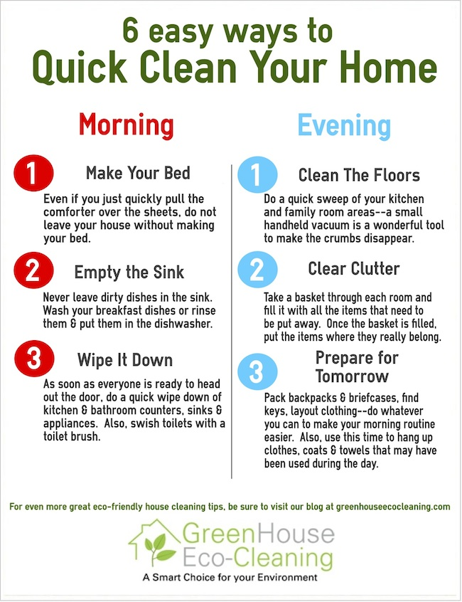 Daily Cleaning Schedule Tips 6 Daily Cleaning Routine Musts